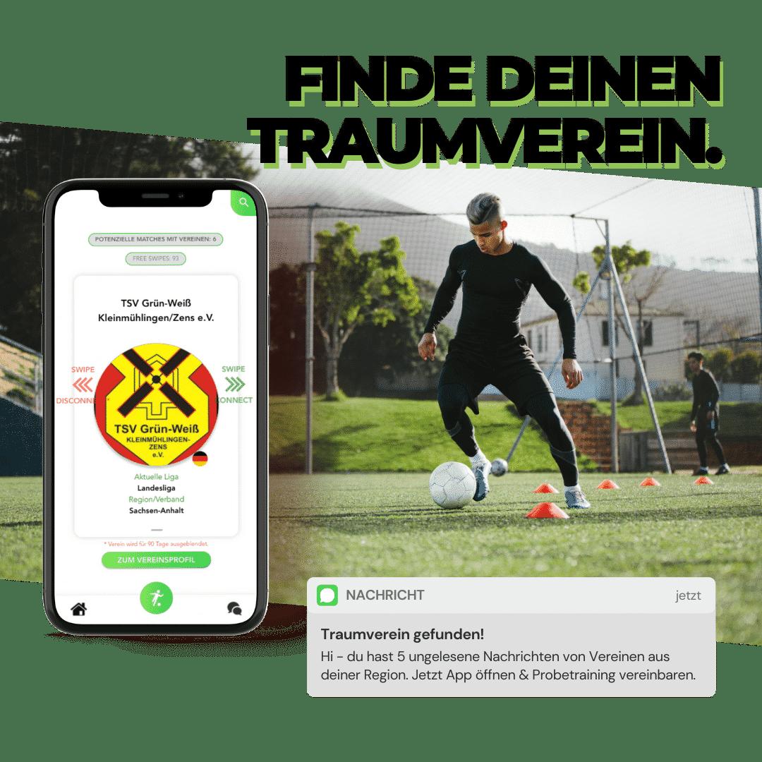 swipe & connect - finde deinen Traumverein Bild - chance4talents